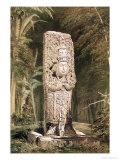 Carved Stone Idol from Copan