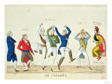 Satirical Cartoon Depicting the Key Protagonists in a Dance at the Congress of Vienna in 1815