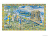 Tile Depicting the Story of Noah: Embarking in the Ark Giclee Print