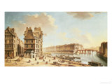 The Ile Saint-Louis from the Place De Greve, circa 1757
