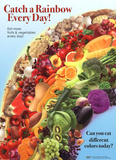 Catch a Rainbow - Fruits and Vegetables Laminated Poster