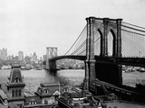 Brooklyn Bridge Over East River and Surrounding Area Photographic Print