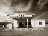 Gas Station and Cafe Photographic Print