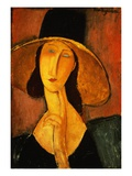 Portrait of Jeanne Hebuterne in a Large Hat
