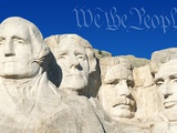 We the People Above Mount Rushmore
