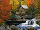 Glade Creek Grist Mill Photographic Print
