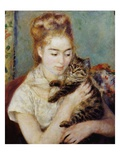 Woman with a Cat Gicl�e-Druck