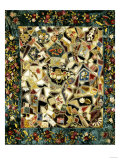 Pieced and Embroidered Silk and Velvet Crazy Quilt, American, Late 19th Century