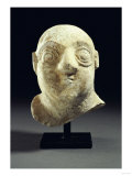 A Sumerian Limestone Head of a Worshipper, Early Dynastic, circa 2600 BC
