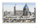 A View of the Cathedral Church of Florence and the Grand Procession of the Host, circa 1740-70