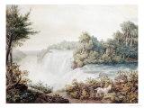 Niagara Falls, View of the American Fall, Taken from Goat Island, circa 1831