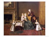 Portrait of John, 14th and His Family in the Breakfast Room at Compton Verney
