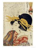 A Courtesan Raising Her Sleeve Art Print