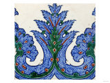 An Iznik Pottery Square Border Tile, circa 1560