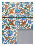 Five Iznik Polychrome Square Tiles, Late 16th Century