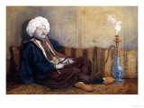 Portrait of Sir Thomas Phillips in Eastern Costume, Reclining with a Hookah