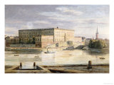 The Royal Palace, Stockholm, 1848 Art Print