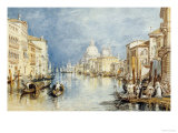 Buy The Grand Canal, Venice, with Gondolas and Figures in the Foreground, circa 1818 at AllPosters.com