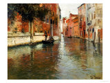 A Venetian Backwater Art Print