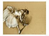 Dancer Adjusting Her Shoe, circa 1890