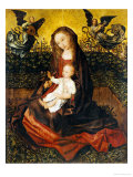 The Virgin and Child with Two Music-Making Angels in a Rose Garden