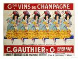 Gds Vins de Champagne, circa 1910 Art Print