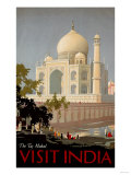 Visit India, the Taj Mahal, circa 1930 Art Print