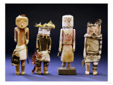 Four Hopi Cottonwood Kachina Dolls
