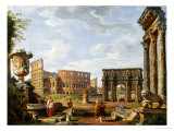 A Capriccio View of Rome with the Colosseum, the Arch of Constantine, 1743