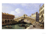 Buy The Rialto Bridge Venice from the South with the Fondamenta Del Vin and the Fondaco Dei Tedeschi at AllPosters.com