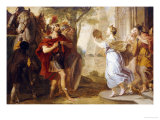 Jephthah Greeted by His Daughter Giclee Print