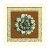 Brown and Blue Rosettes I