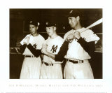 Joe DiMaggio, Mickey Mantle and Ted Williams, 1951