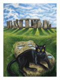 European Cat at Stonehenge/Great Britain