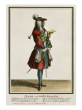 Cleante Dressed as a Cavalier, Fashion Plate, circa 1695