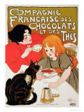 Buy Reproduction of a Poster Advertising the French Company of Chocolate and Tea at AllPosters.com