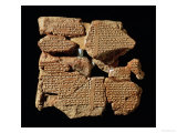 Part of the Epic of Gilgamesh Telling the Babylonian Legend of the Flood, from Nineveh