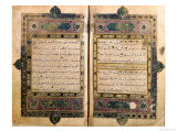 Two Pages from a Koran Manuscript