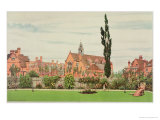Church and Parsonage, Bedford Park, 1881 Giclee Print