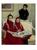 Buy Family Portrait of a Boy and His Two Sisters, 1900 at AllPosters.com