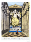 Statue of Olympian Zeus by Pheidias, from a Series of the
