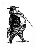 Honore De Balzac with a Cane, Probably Drawn for the Book