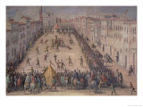 A Game of Football in the Piazza Santa Maria Novella, Florence, 1555