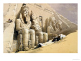 "Buy The Great Temple of Abu Simbel, Nubia, from ""Egypt and Nubia,"" Vol.1 at AllPosters.com"