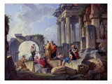 Ruins with the Apostle Paul Preaching, 1744
