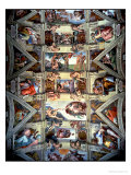 Buy Sistine Chapel Ceiling and Lunettes, 1508-12 at AllPosters.com