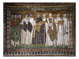 Emperor Justinian I and His Retinue of Officials, Soldiers and Clergy, circa 547 AD