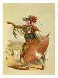 "Zulu Warrior, Utimuni, Nephew of Chaka the Late Zulu King, Plate 13 from ""The Kafirs Illustrated"""