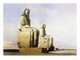 Thebes, December 4th 1838, Detail of the Colossi of Memnon