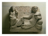 Couple at a Banquet, Tomb Find from Palmyra, Syria, 150 AD